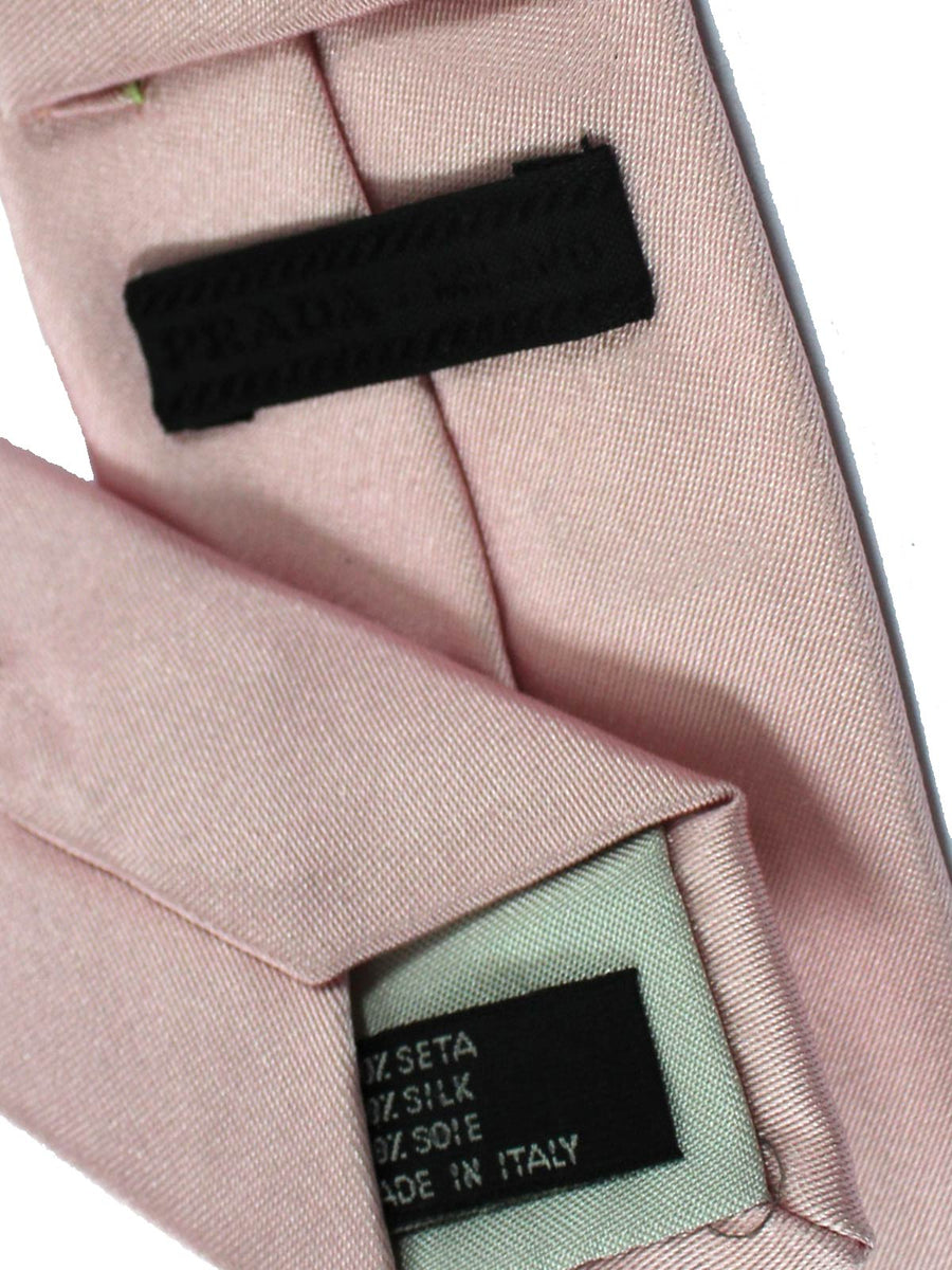 Prada Tie Light Pink Solid Design - Skinny Necktie SALE