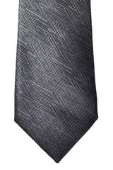 Prada Narrow Tie Silver Black