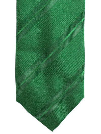 Prada Tie Green Stripes Design - Skinny Necktie