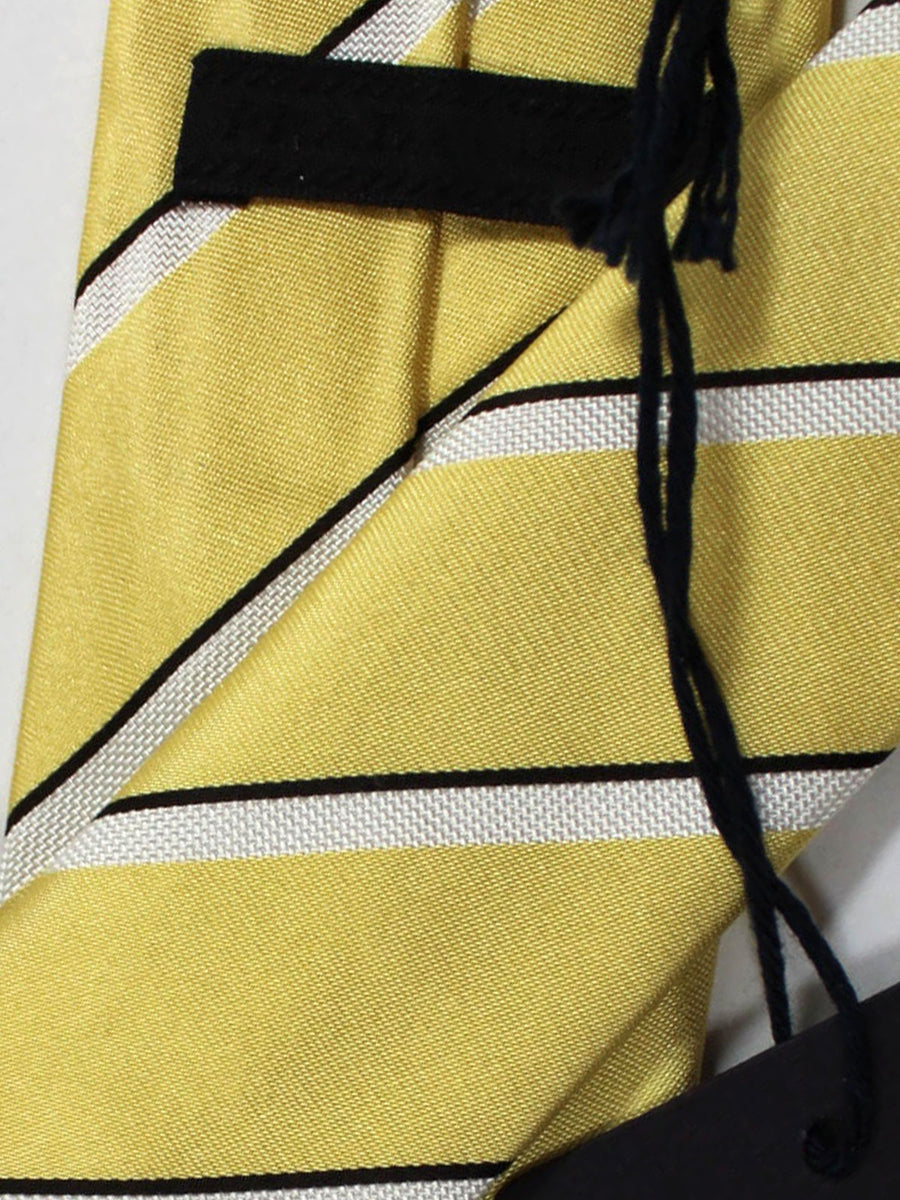 Prada Necktie Yellow Stripes Design - Skinny Tie