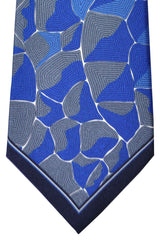 Emilio Pucci Tie Royal Blue Gray