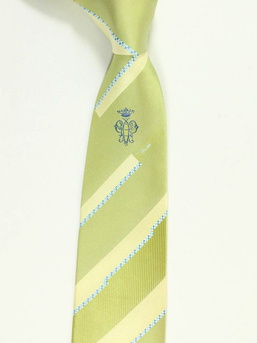 Emilio Pucci Tie Lime Stripes Signature Print