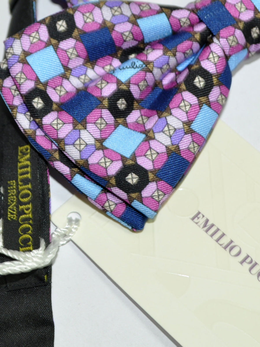 Emilio Pucci Bow Tie Pink Brown Design