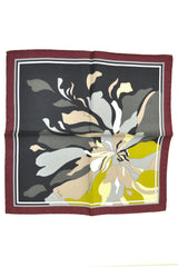 Emilio Pucci Pocket Square Maroon Gray