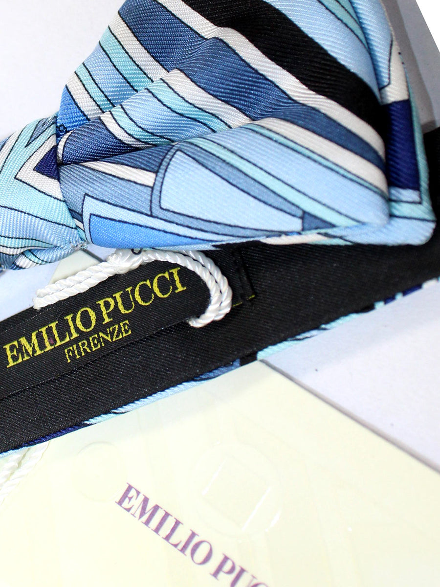 Pucci Bow Tie Blue Geometric