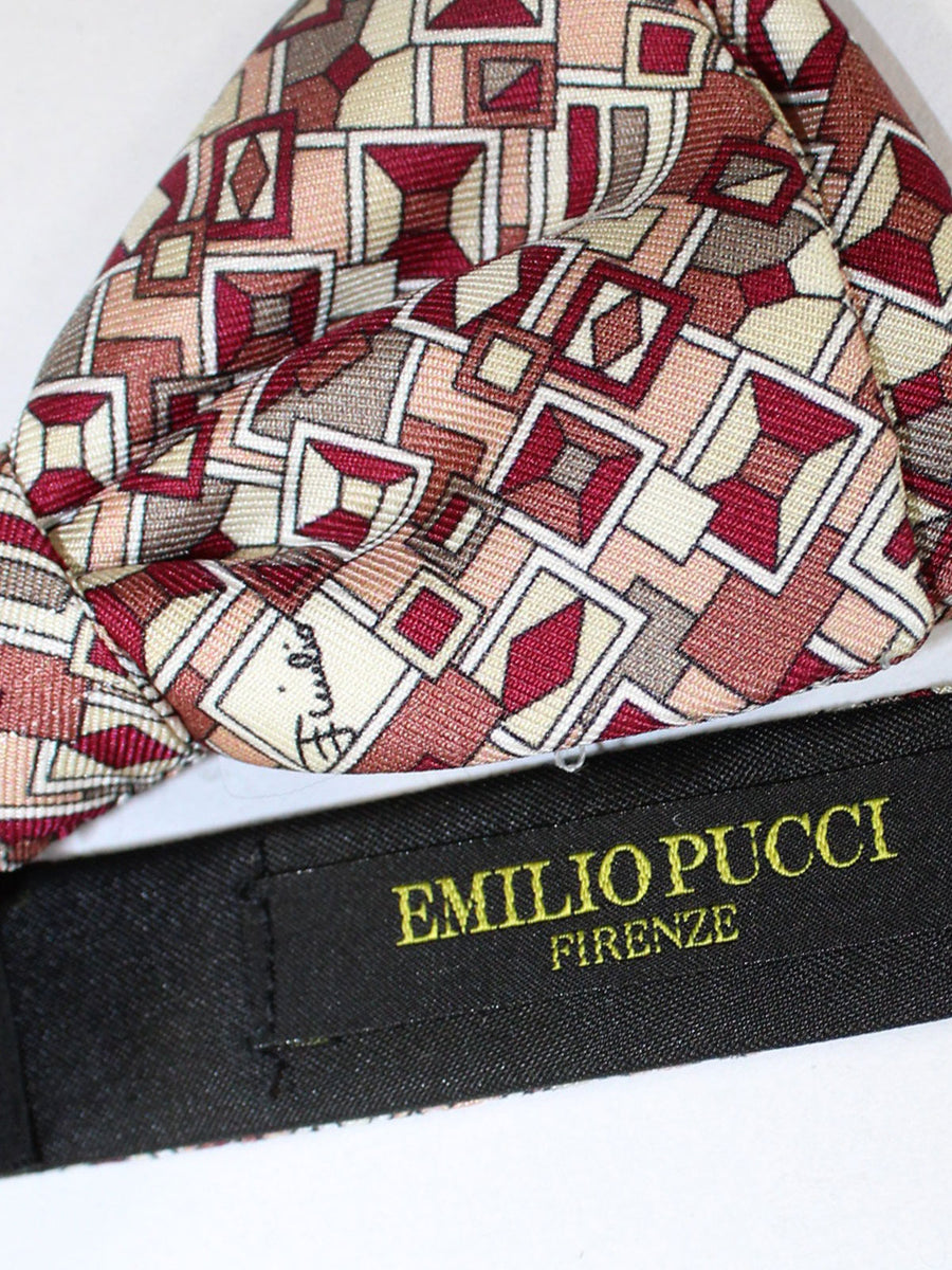 New Pucci Silk Bow Tie Pink
