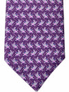 Bvlgari Sevenfold Tie Violet Purple Puppy Dog Novelty Tie
