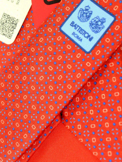 Battistoni Silk Tie Red Blue Geometric - Spring/ Summer 2020 Collection