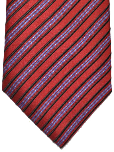 Stefano Ricci Tie Rust Orange Blue Stripes Design