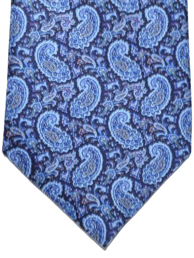 Stefano Ricci Tie Navy Blue Red Paisley Design