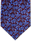 Stefano Ricci Tie Burgundy Blue Ornamental - Wide Necktie