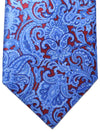 Stefano Ricci Tie Dark Red Blue Ornamental Design