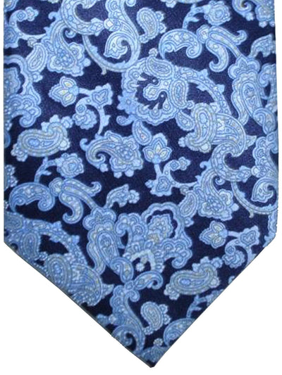 Stefano Ricci Tie Navy Sky Blue Ornamental Design