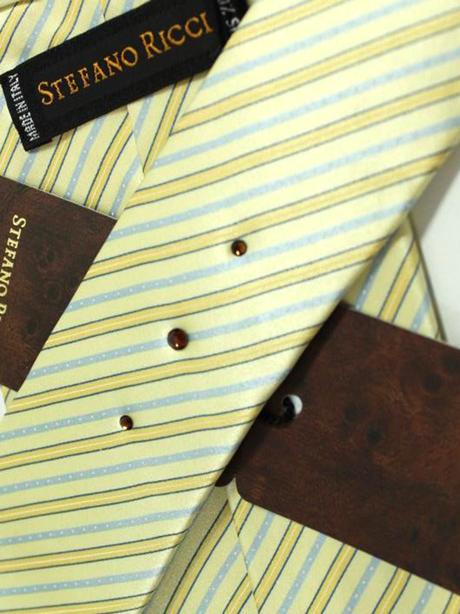 Stefano Ricci Tie Yellow Stripes Design