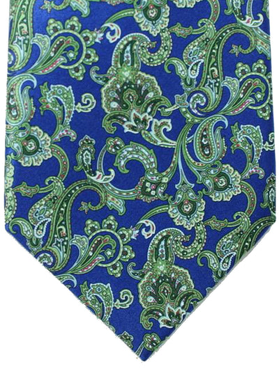 Stefano Ricci Tie Royal Blue Green Ornamental Design