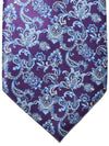 Stefano Ricci Tie Purple Blue Ornamental Design