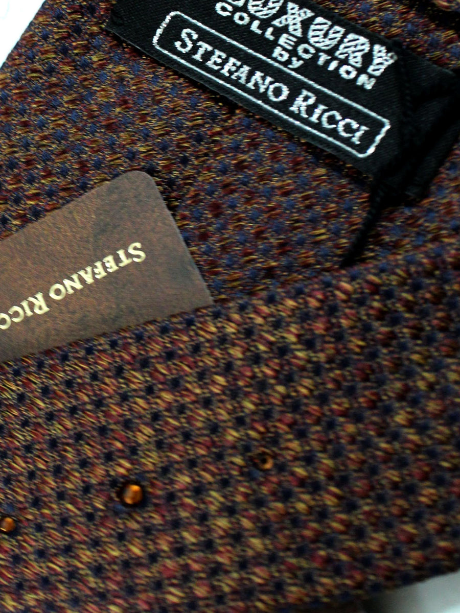 Stefano Ricci Tie Brown Knitted - Wide Necktie