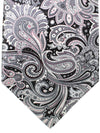 Stefano Ricci Tie Black Gray Pink Ornamental - Wide Necktie