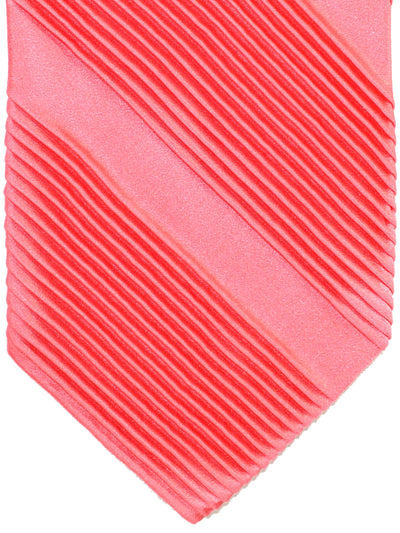 Stefano Ricci Pleated Silk Tie Pink Solid Design