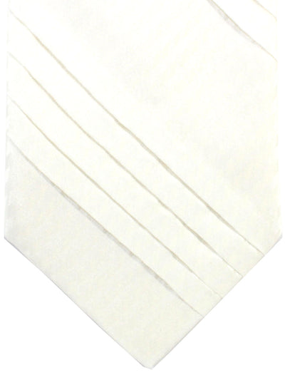 Stefano Ricci Pleated Silk Tie White Solid Design