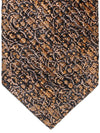 Stefano Ricci Pleated Silk Tie Brown Black Ornamental  Design