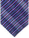 Stefano Ricci Pleated Silk Tie Purple Black Red Stripes Design