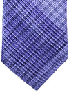 Stefano Ricci Pleated Silk Tie Purple Black Glen Check Design