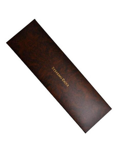 Stefano Ricci Pleated Silk Tie Royal Solid Design