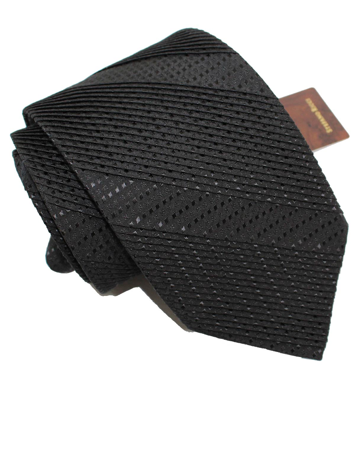 Stefano Ricci Silk Tie Solid Black Design