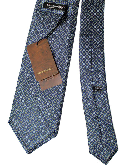 Stefano Ricci Silk Tie Midnight Blue Gray Green