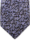 Stefano Ricci Pleated Silk Tie Purple Black Gray Ornamental Design