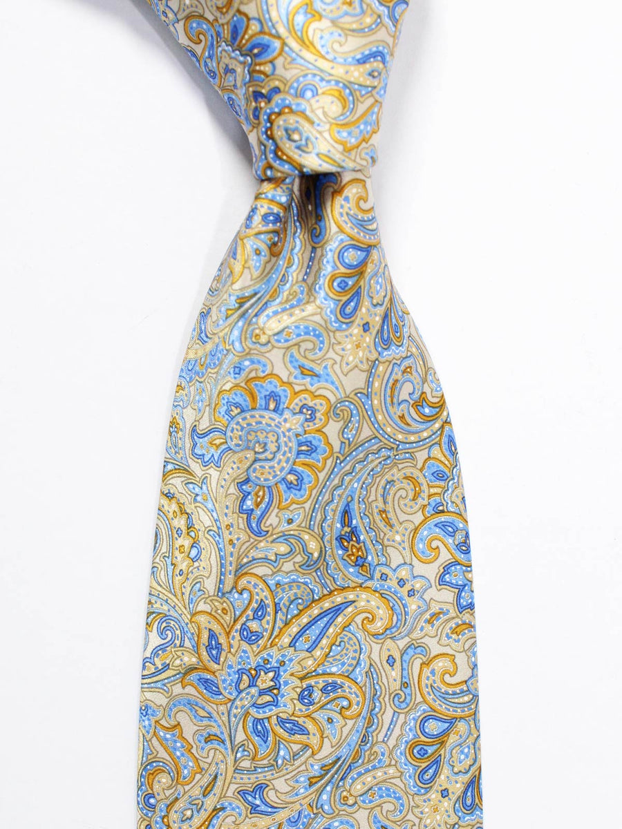 Stefano Ricci Tie Brown Blue Ornamental - Wide Necktie