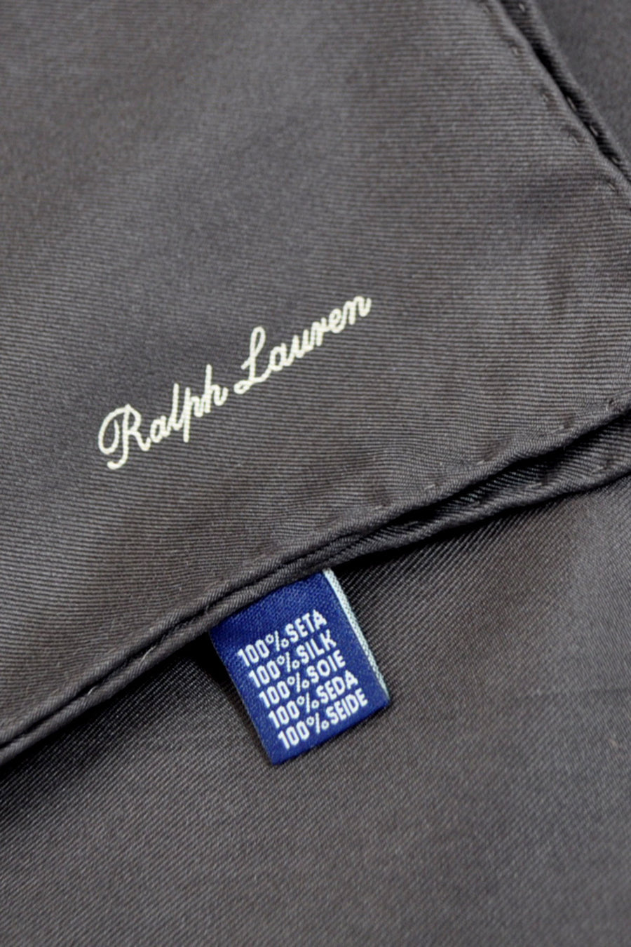 Ralph Lauren Silk Pocket Square Solid Brown