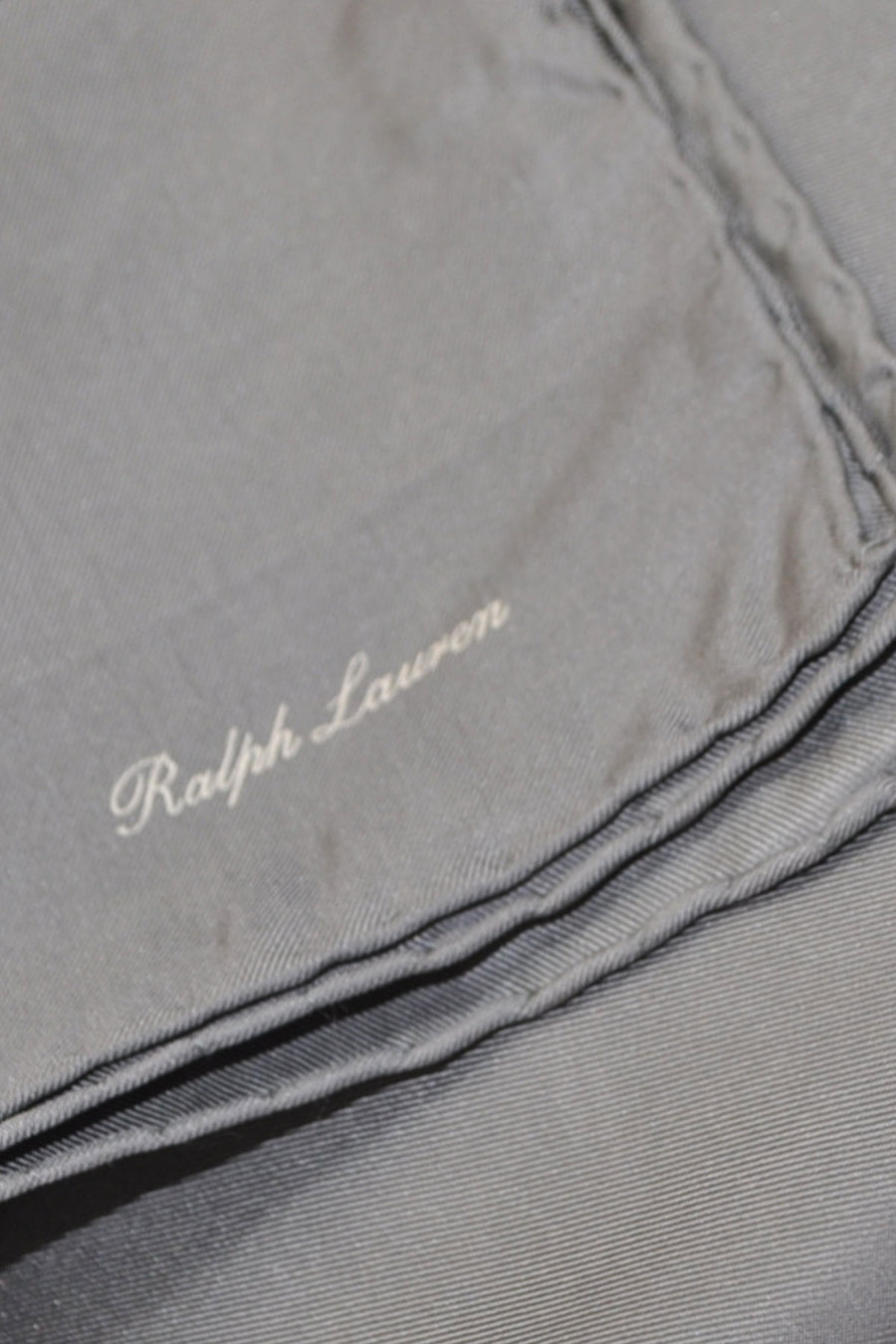 Ralph Lauren Silk Pocket Square Solid Gray