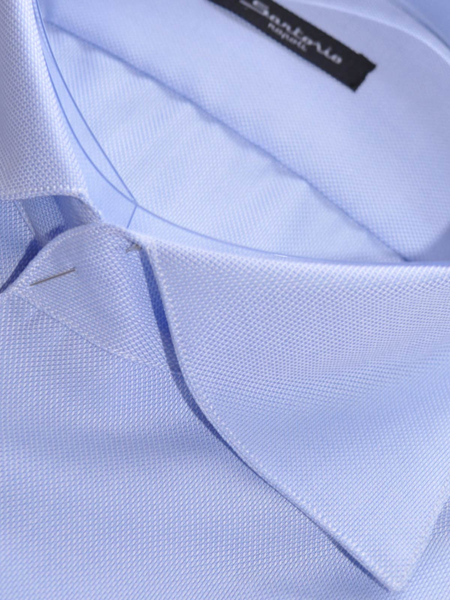 Sartorio Dress Shirt Solid Light Blue 40 - 15 3/4