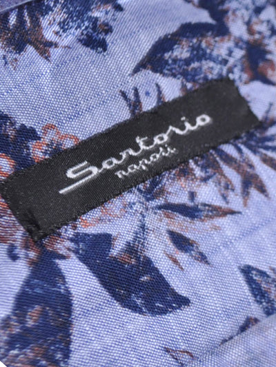 Sartorio Sport Shirt Blue Floral Genuine