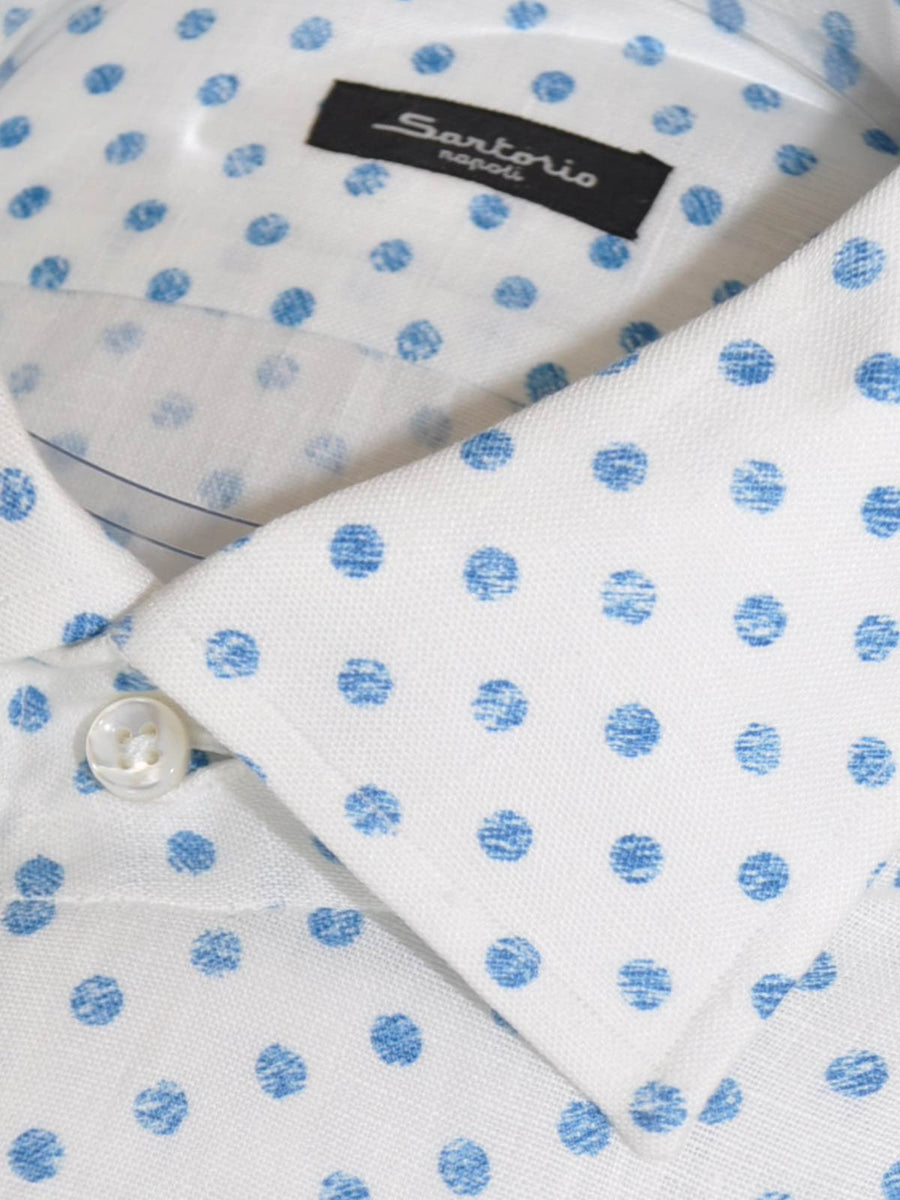 Sartorio Shirt Blue Polka Dots