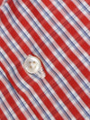 Sartorio Shirt Red White Blue Check 38 - 15 REDUCED - SALE