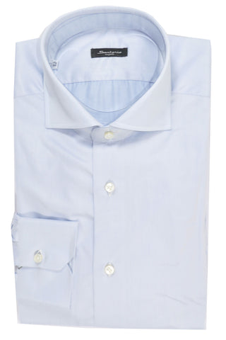 Sartorio Dress Shirt Light Blue 40 -15 3/4