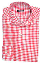 Sartorio Shirt White Pink Check