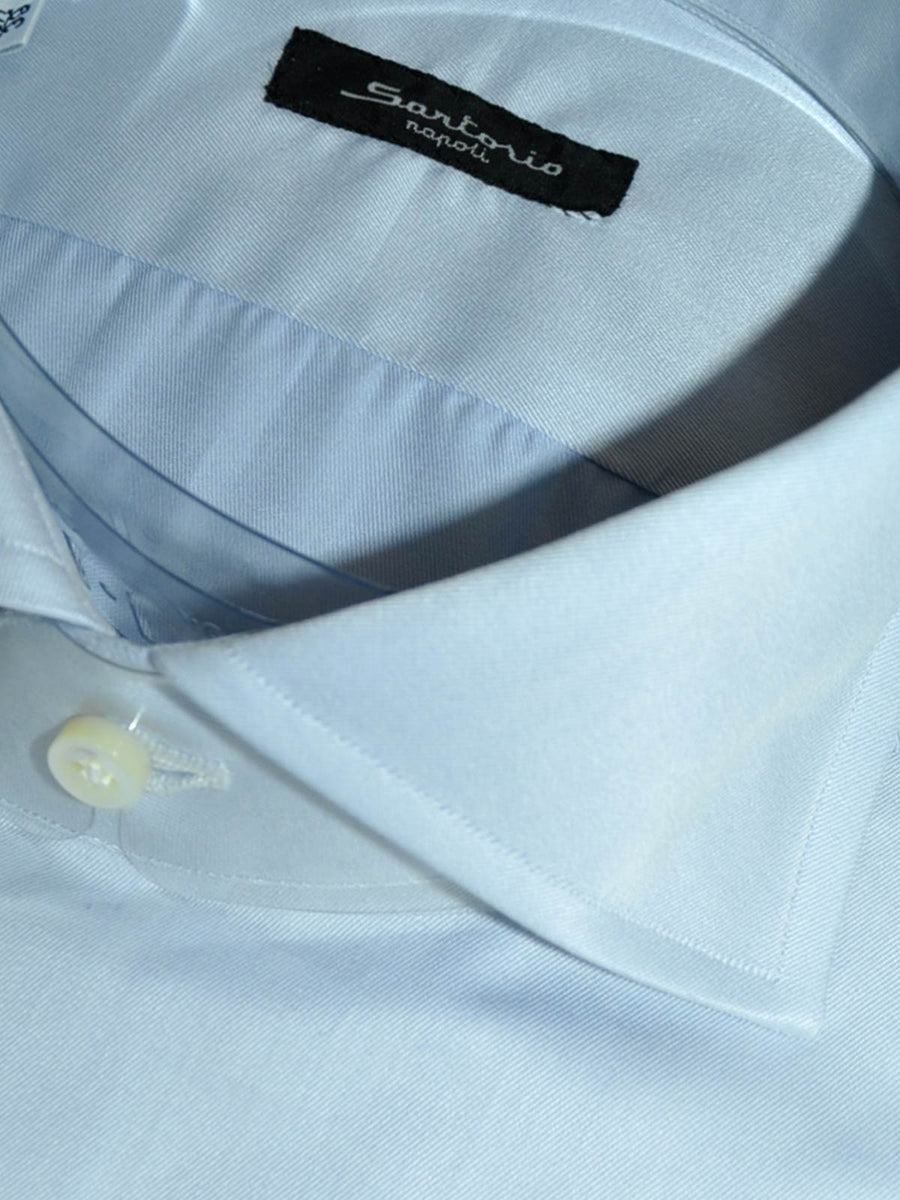 Sartorio Dress Shirt Light Blue Spread Collar