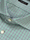 Sartorio Shirt White Green Navy Tatterstall Check