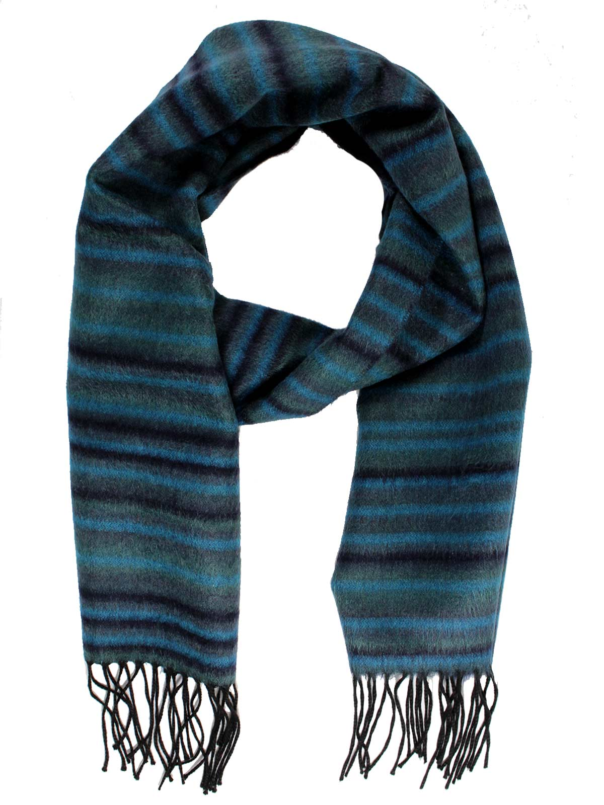 a3f6de5d7 Canali Scarf Navy Teal Gray Stripes Reversible Cashmere Silk Shawl ...