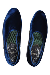 Tom Ford Velvet Evening Slipper Navy Men Shoe
