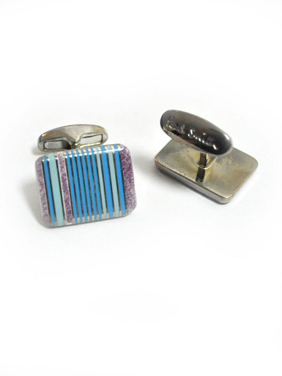 Paul Smith Cufflinks Blue Stripes Design SALE