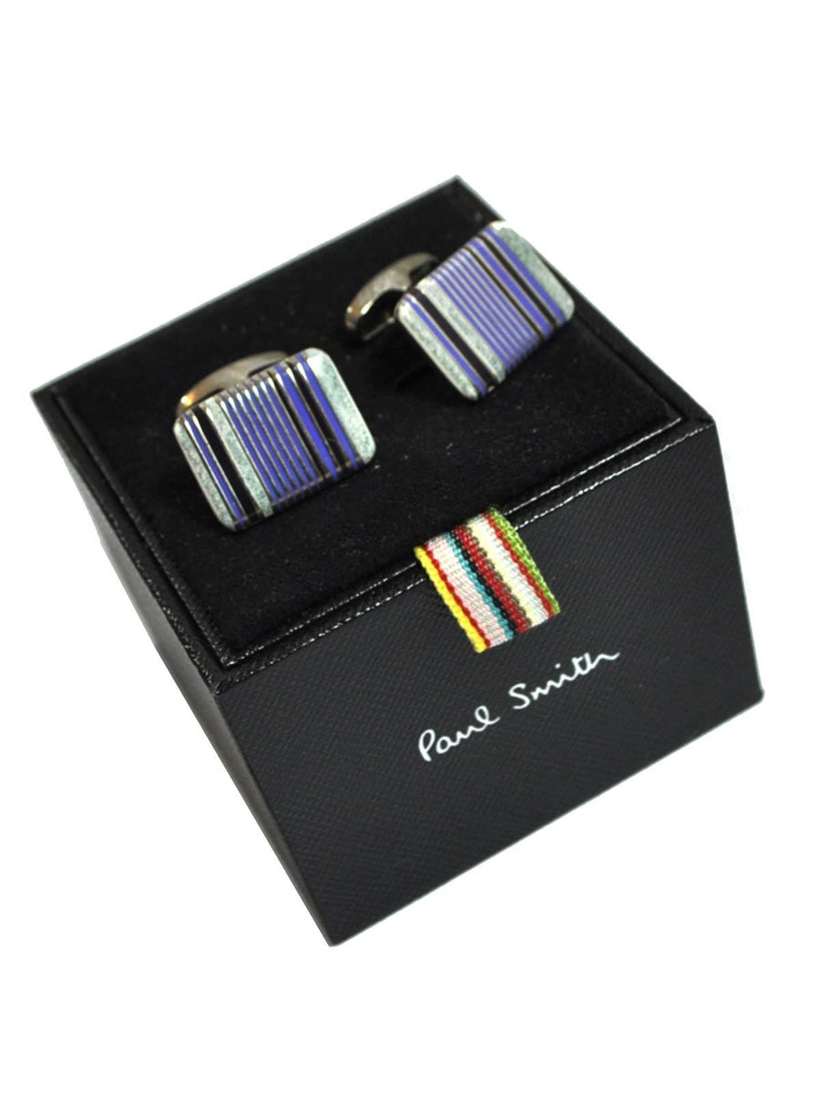 Paul Smith Cufflinks Violet Purple Stripes Design