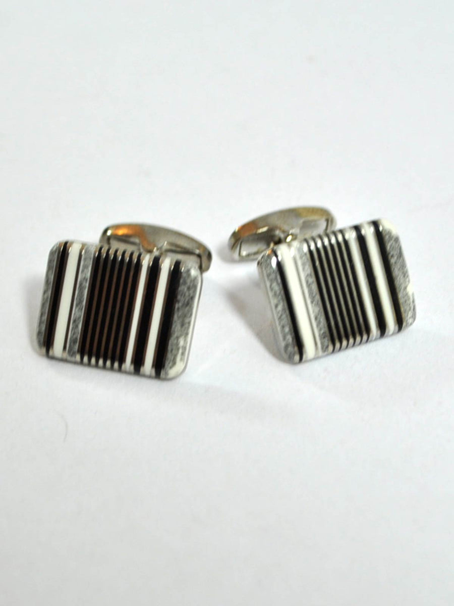 Paul Smith Cufflinks Black Stripes Design