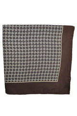 Robert Talbott Carmel Silk Pocket Square Brown