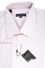 Robert Talbott Dress Shirt Pink Stripes French Cuffs