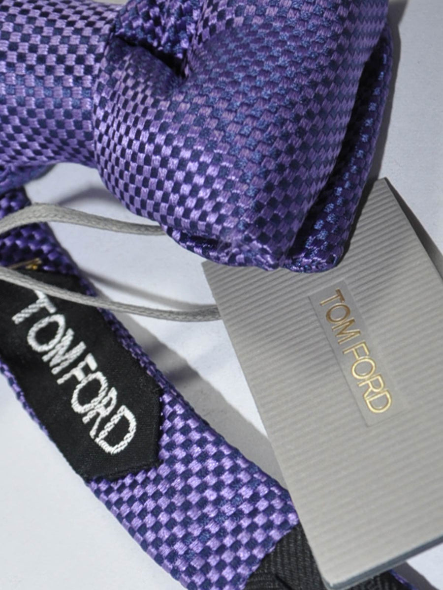 Tom Ford Silk Bow Tie Purple